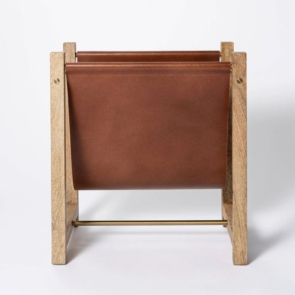 Threshold designed with Studio McGeeWood and Leather Magazine Holder Natural