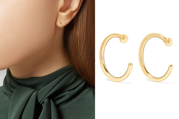 Melissa Joy Manning 14-K Gold Hoop Earrings