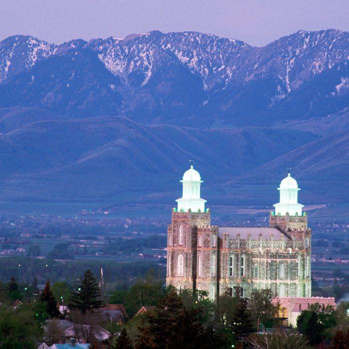A Mormon church, Utah.