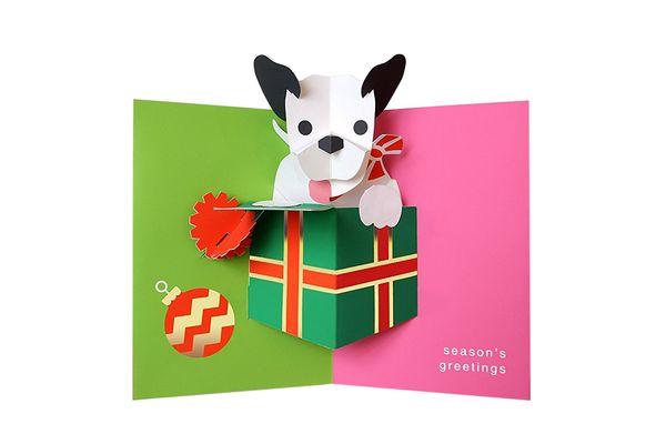 Robert Sabuda Perky Puppy Boxed Holiday Pop Up Cards