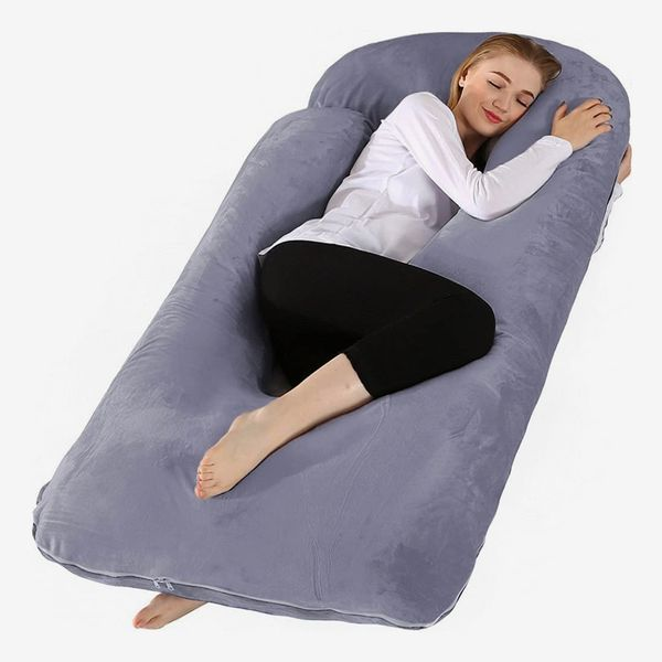 Chilling Home Pregnancy Pillow with Velvet Cover