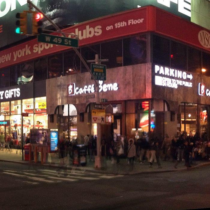 Caffé Bene in Times Square.