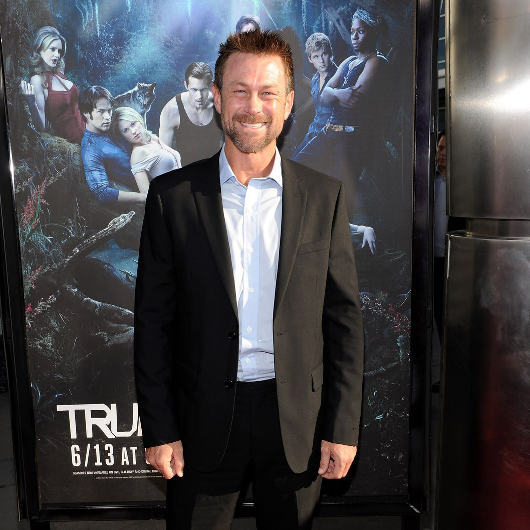 "Actor Grant Bowler arrives at the premiere of HBO's ""True Blood"" Season 3"
