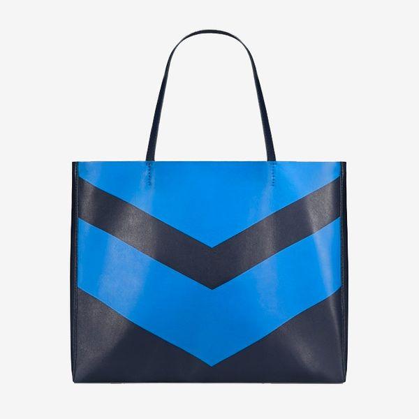 black blue tory sport chevron tote