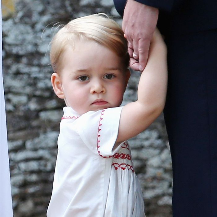Prince George is gonna wear this expression his whole life.