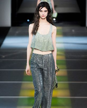 2e7f87affd5 Today marked the end of Milan Fashion Week. Giorgio Armani presented a  reptilian-textured collection