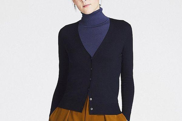 Uniqlo Women's Extra Fine Merino V-Neck Cardigan