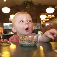 Extremely Cute Baby More Excited by Food Than You've Ever Been for Anything in Your Whole Life