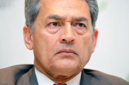 Rajat Gupta, senior partner emeritus of McKinsey & Company, attends a news conference at Seoul G20 Business Summit in Seoul, South Korea, on Wednesday, Nov. 10, 2010. Over 100 business leaders from around the world are expected to attend the summit, held on the sidelines of the G-20. Photographer: Seokyong Lee/Bloomberg via Getty Images