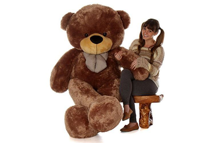 "Giant 72"" Mocha Brown Plush Toy"