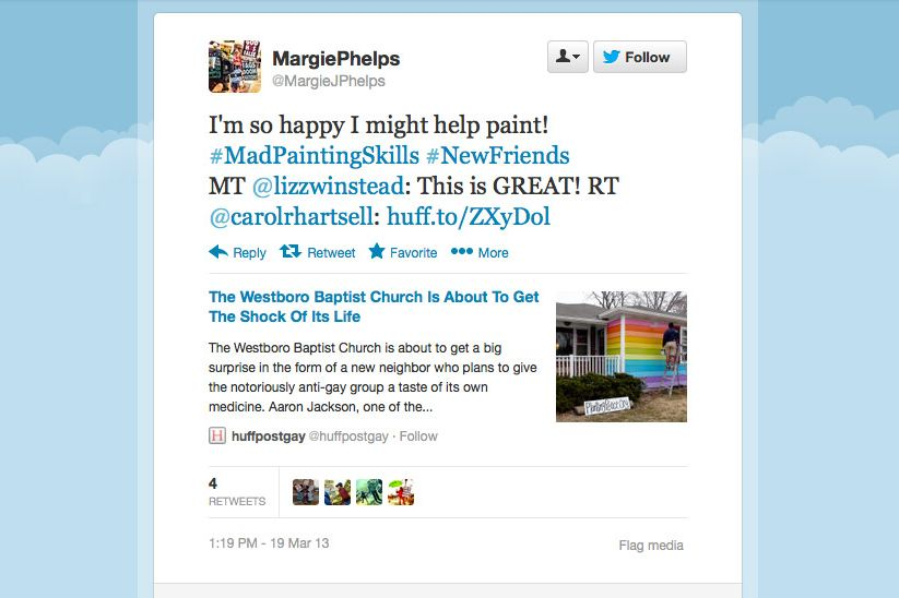 On Twitter, Westboro Baptist Freaks Are Ecstatic About the Gay Rainbow  House Across the Street