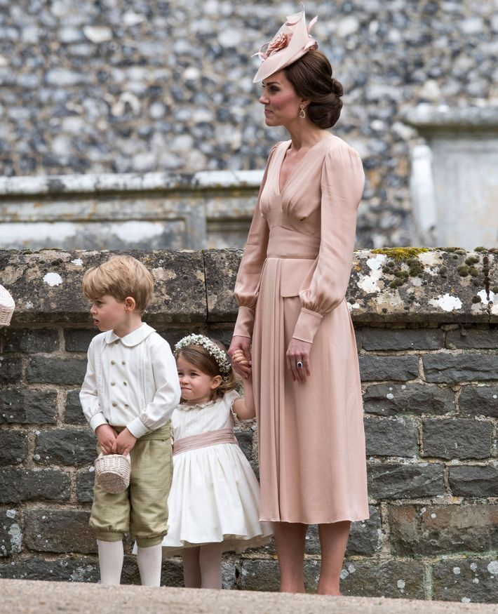 Prince George and Princess Charlotte in Pippa Middleton's wedding (with their mom, Kate).