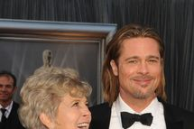 HOLLYWOOD, CA - FEBRUARY 26:  Actor Brad Pitt (R) and mother Jane Pitt arrive at the 84th Annual Academy Awards held at the Hollywood & Highland Center on February 26, 2012 in Hollywood, California.  (Photo by Steve Granitz/WireImage)
