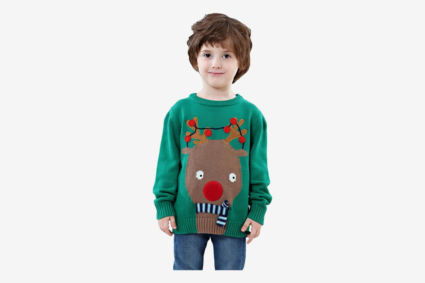 shineflow children kids rudolph ugly christmas sweater - Best Christmas Sweaters