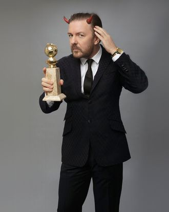 Ricky Gervais hosts the 69th Annual Golden Globe Awards.