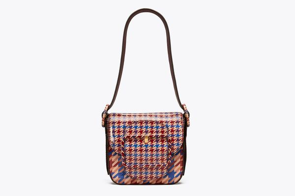 Sawyer Houndstooth Mini Shoulder Bag
