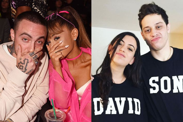 Ariana grande and pete davidson are dating plus more gossip ariana grande with mac miller cazzie david with pete davidson photo getty imagesinstagram m4hsunfo