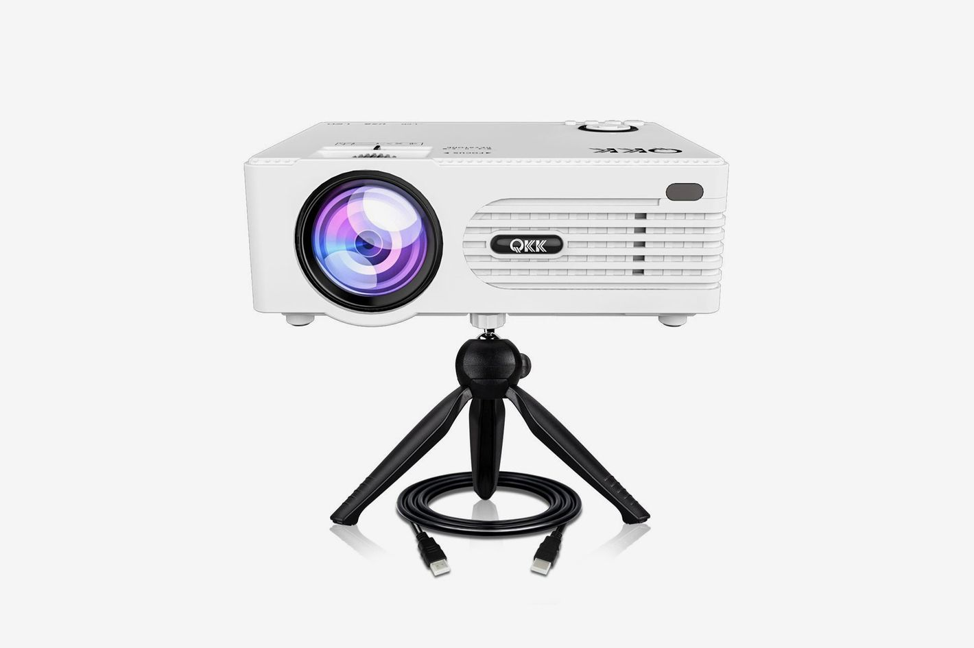 QKK 2200 Lumen Mini Projector, Full HD LED Video Projector 1080P