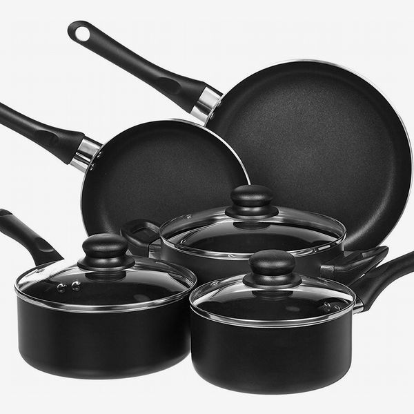 Amazon Basics 8-Piece Nonstick Kitchen Cookware Set