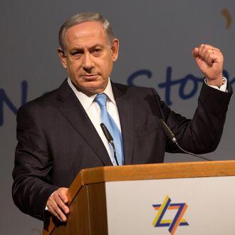 ISRAEL-PALESTINIAN-ZIONIST-CONGRESS-NETANYAHU