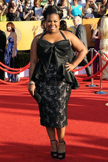 Amber Riley== 18th Annual Screen Actors Guild Awards== Shrine Auditorium, Los Angeles, CA== January 29, 2012== ?Patrick McMullan== Photo - ANDREAS BRANCH/PatrickMcMullan.com==