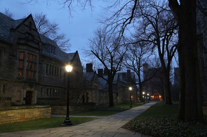 New Haven Street at Night