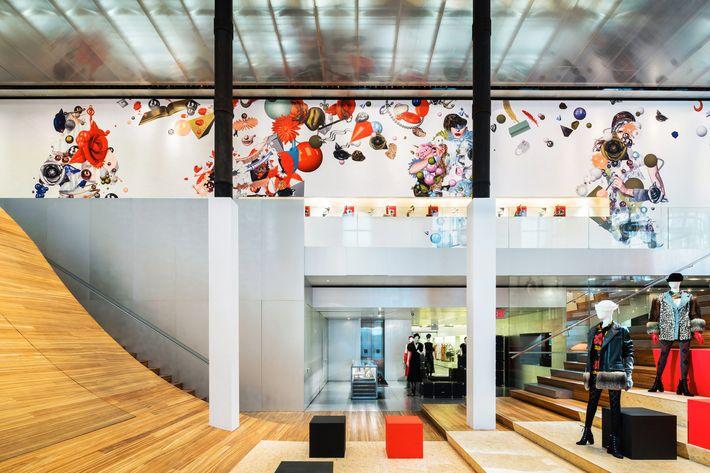 View Slideshow - Prada's Soho Store Wallpaper Is Great For Instagram