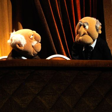 Statler and Waldorf speak on stage during Amnesty International's Secret Policeman's Ball at Radio City Music Hall on March 4, 2012