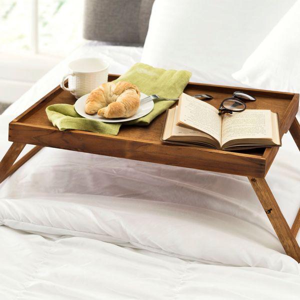 Winston Porter Wooden Breakfast Tray