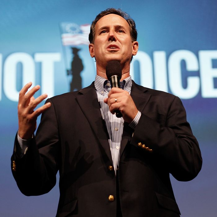 TAMPA, FL - AUGUST 29: Former U.S. Sen. Rick Santorum speaks at the