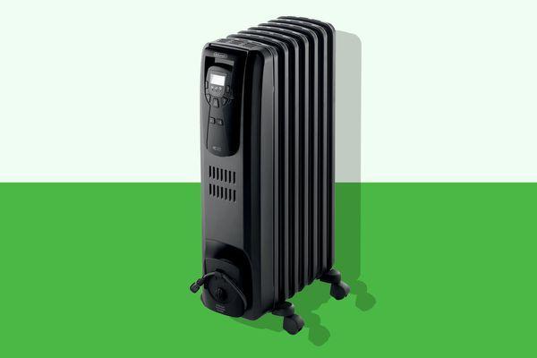 DeLonghi Oil Filled Radiator Heater Black 1500W