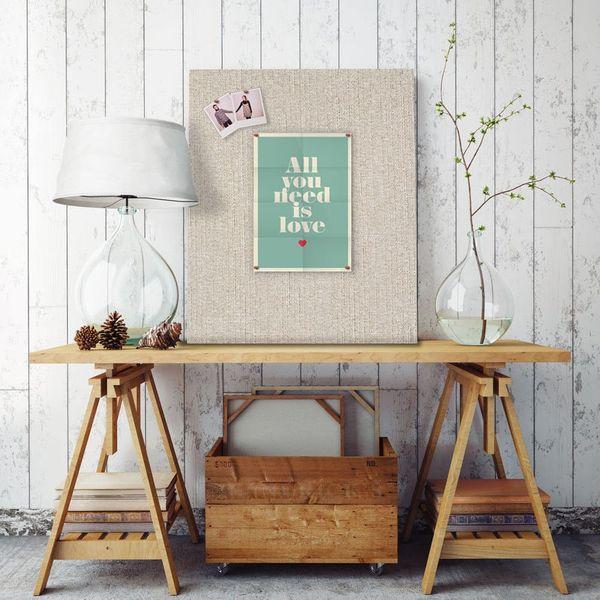 The CorkBoard Shop Linen Fabric Frameless Pin Board