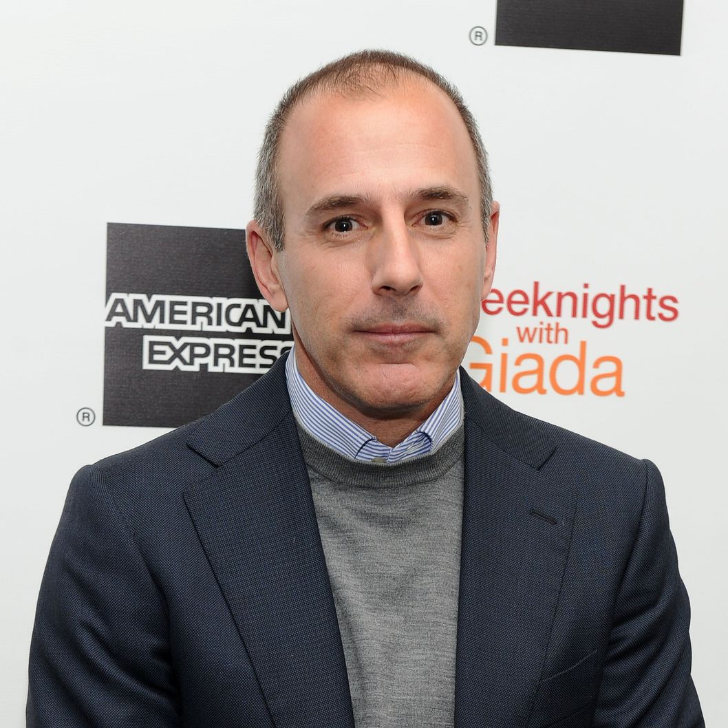 "NEW YORK, NY - MARCH 26:  Television personality Matt Lauer attends Giada DeLaurentiis' ""Weeknights With Giada"" book launch party at the Andaz Hotel on March 26, 2012 in New York City.  (Photo by Jason Kempin/Getty Images)"