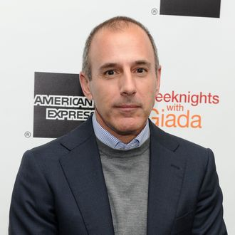 NEW YORK, NY - MARCH 26: Television personality Matt Lauer attends Giada DeLaurentiis'