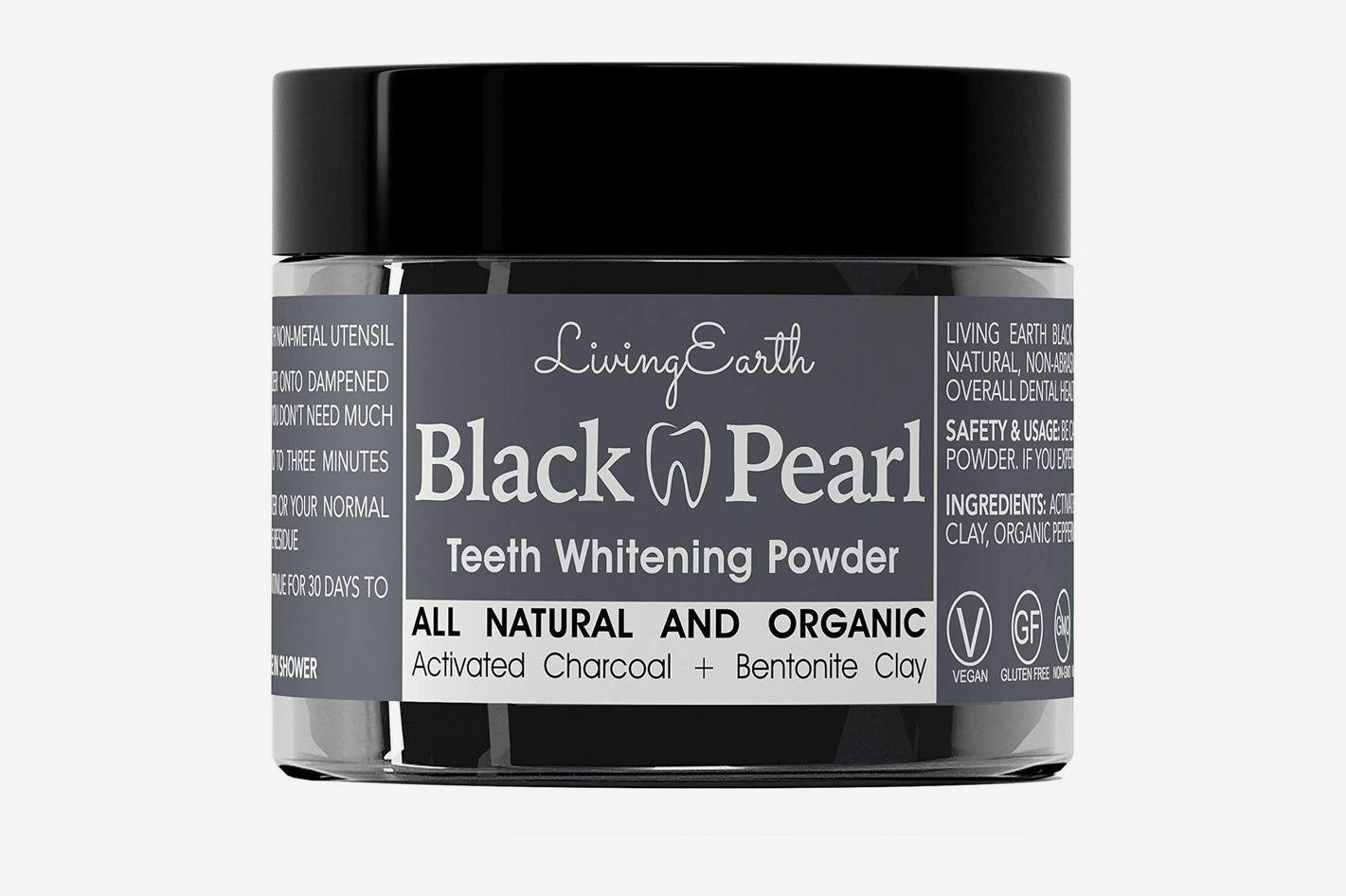 Living Earth Black Pearl Teeth-Whitening Powder