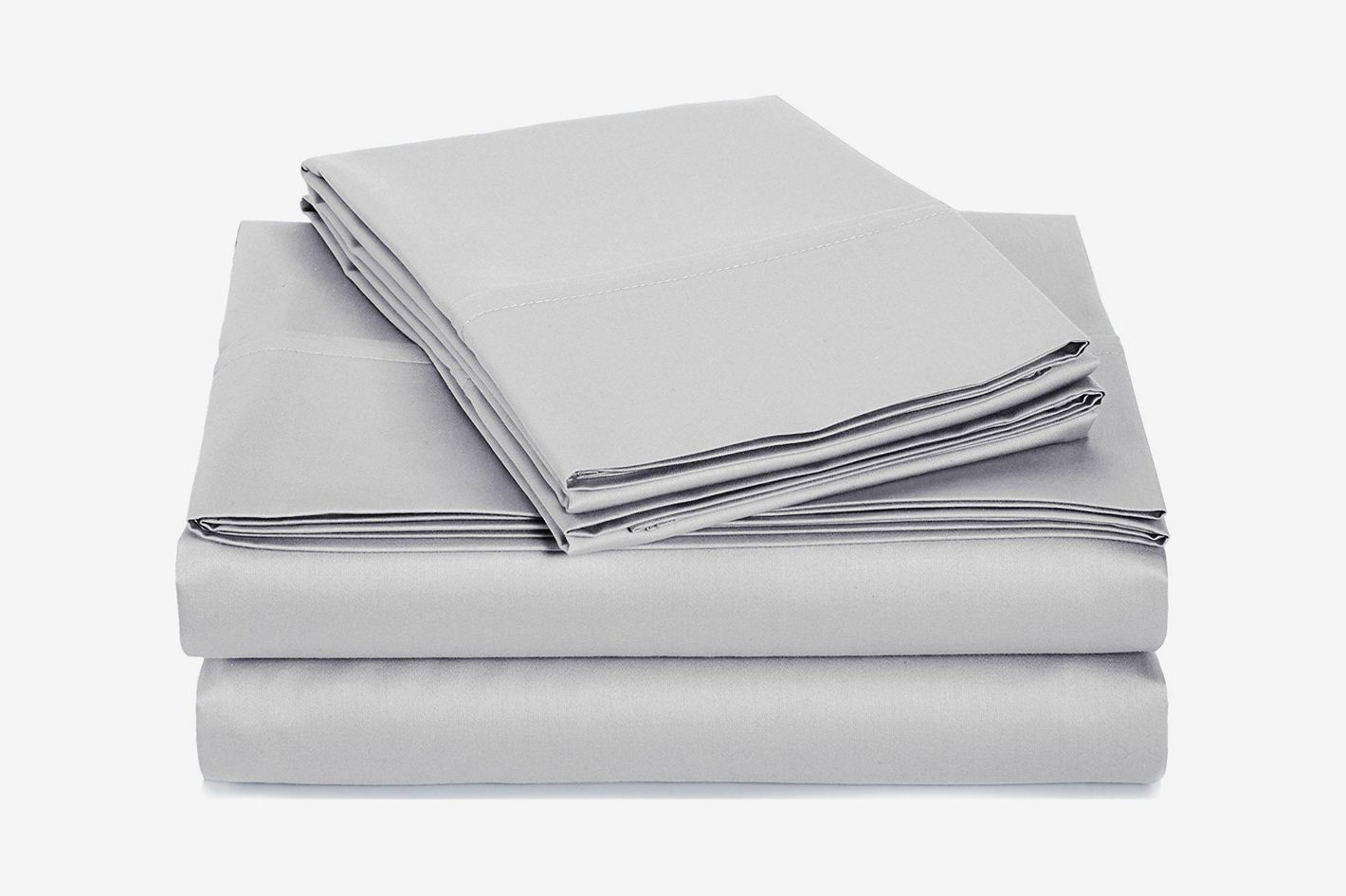 AmazonBasics 400 Thread Count Sheet Set, Sateen Finish, Full