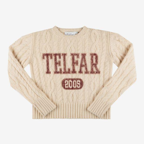 Telfar Cable Knit Thumbhole Sweater - Off-White