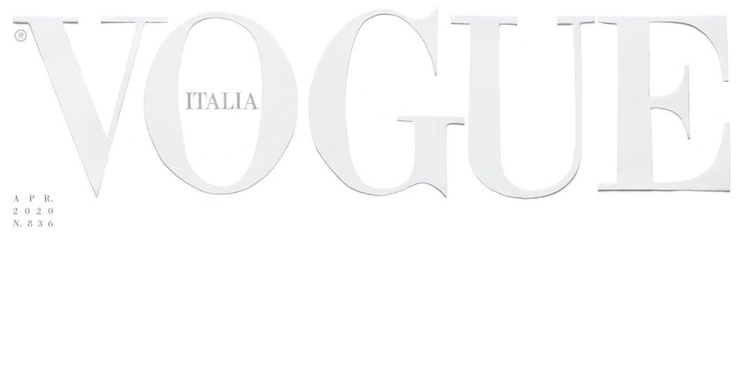 Vogue Italia Printed a Blank White Cover