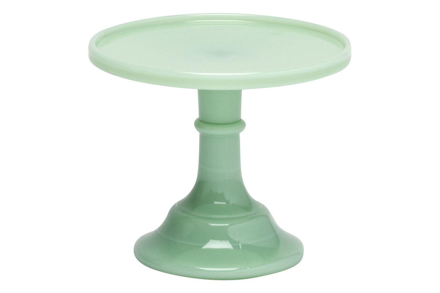 """Jadeite 6"""" Glass Cake Stand"""