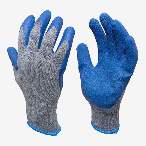 G & F Rubber Latex Double Coated Work Gloves