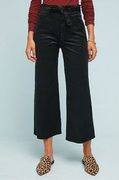 Paige Sutton High-Rise Cropped Wide-Leg Jeans
