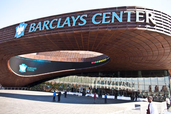 Barclays Center the new home to NBA's Brooklyn Nets is set to open next week in Downtown Brooklyn, in New York, Friday September 21, 2012. The stadium was financed by developer Bruce Ratner, hip hop artist Jay Z, and Russian billionaire Mikhail Prokhorov.