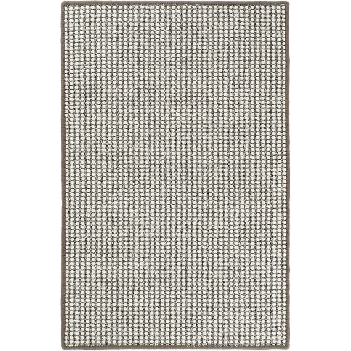 Dash and Albert Pixel Grey Woven Sisal Wool Rug