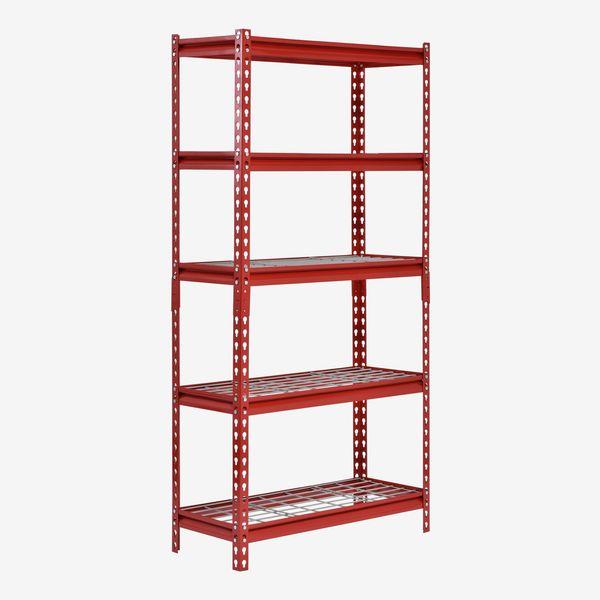Sandusky Cabinets Adjustable Steel Shelving Unit, Red