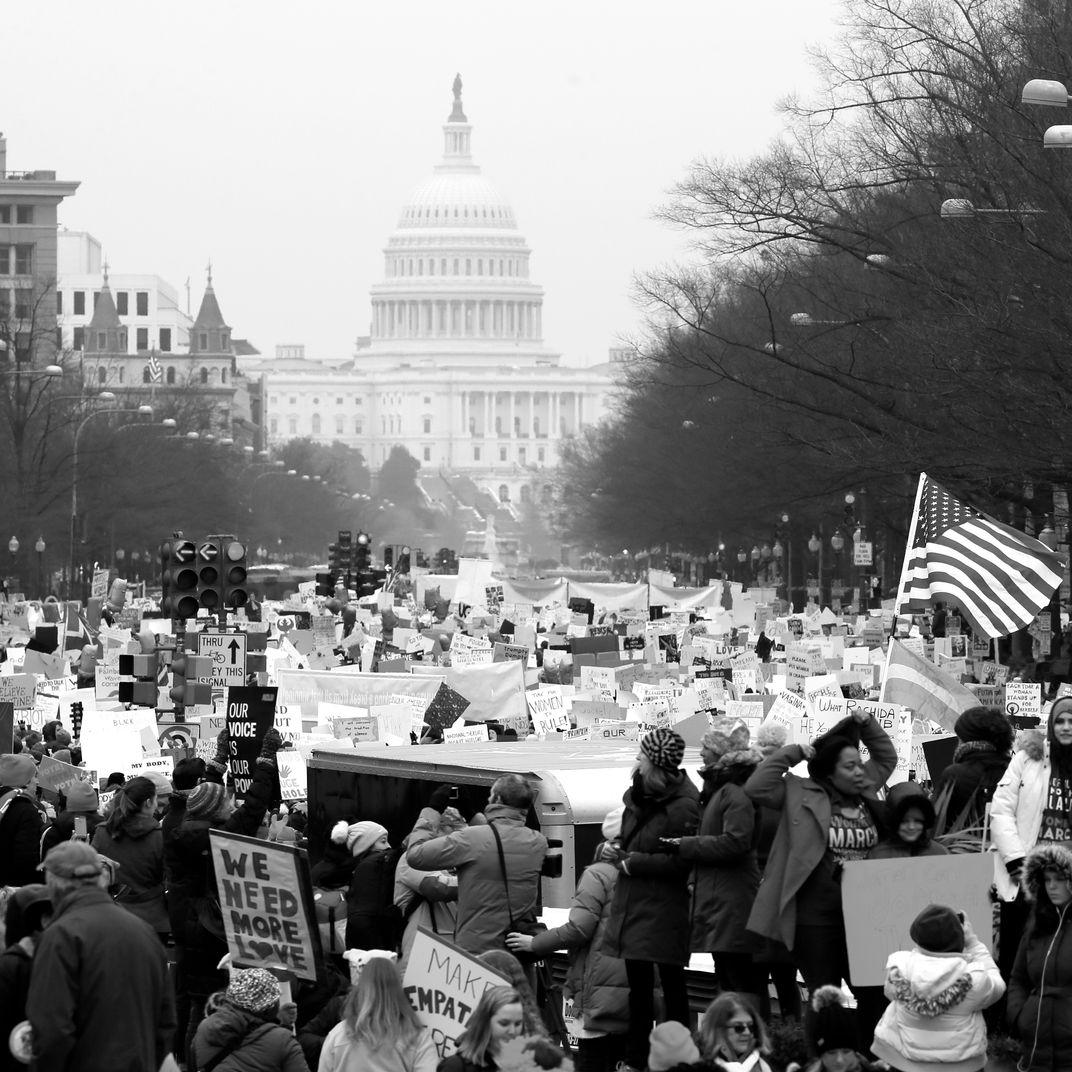 The 2019 Women's March in Washington.