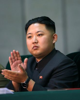 N. Korea's heir apparent Kim Jong-un In this Oct. 9, 2010, file photo released by China's Xinhua News Agency, Kim Jong-un, the third son and heir apparent of North Korean leader Kim Jong-il, applauds while watching the North's mass gymnastics festival