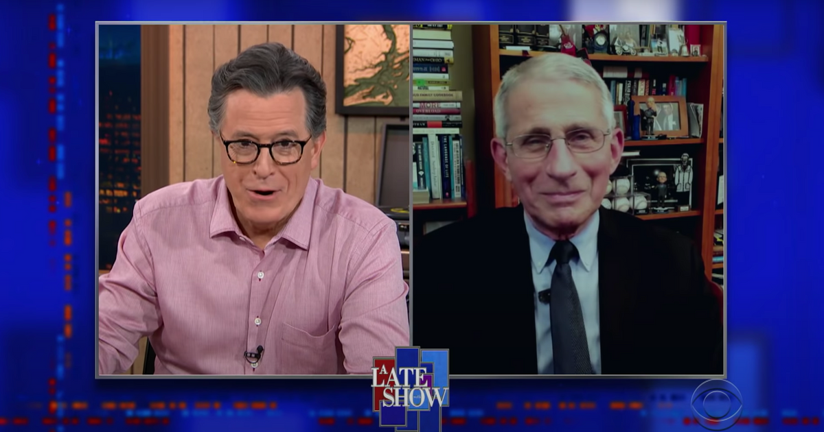 Dr. Fauci Tells Stephen Colbert He Can't Go Clubbing Yet - Vulture