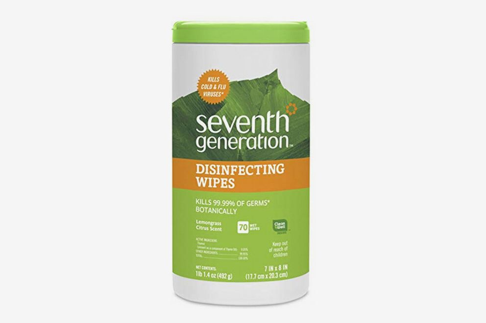 Seventh Generation Disinfecting Multi-Surface Wipes, Lemongrass Citrus