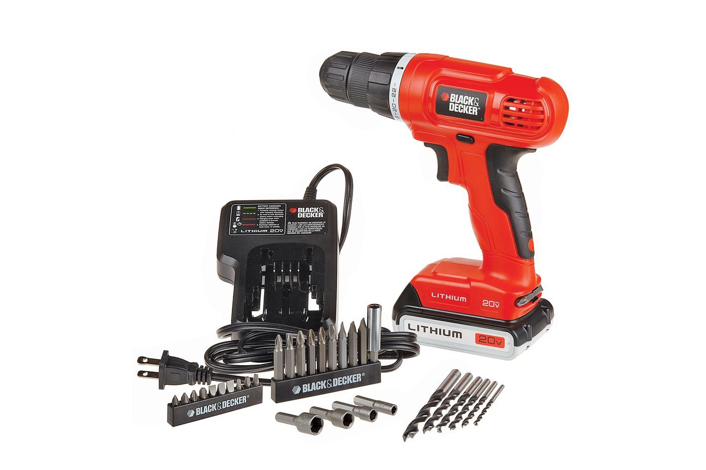 Black & Decker 20-volt-max lithium-ion drill kit