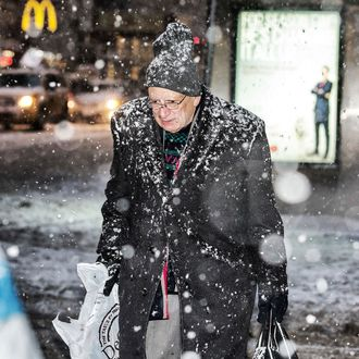 Snowstorm Hits New York